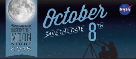 Locandina International Observe the Moon Night 8 ottobre 2016.