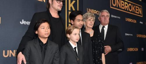 Brad Pitt at Unbroken Premiere with His Kids & His Parents 12/15 - lipstickalley.com