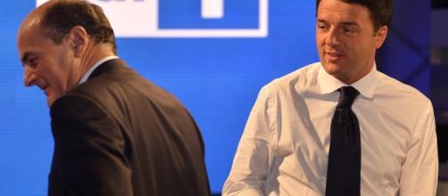 L'ex segretario del Pd Pierluigi Bersani in polemica con il compagno di partito, e premier, Matteo Renzi