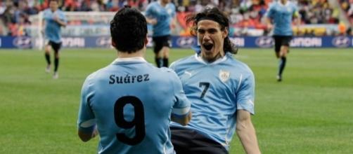 La 'premiata ditta' Suarez-Cavani protagonista del rotondo successo uruguaiano sul Venezuela