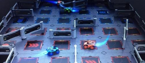 The Galaxy ZEGA is a technology-infused interactive vehicle and track set. / Photo via Erica Zeidenberg, Hot Tomato PR. Used with permission.