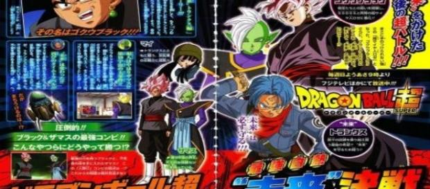 'DBS': Fuji TV reveals Zamasu's version that hides behind Black's body. Photos: Wikipedia