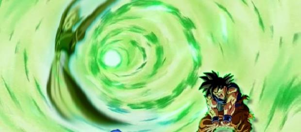 Fan art de Maitre-Kaio sobre el Mafuba de Goku