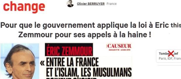 Par respect du droit positif et des libertés de presse, je ne signe pas cette pétition contre Zemmour