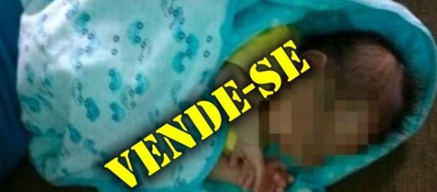 Bebê era oferecido na internet pelo valor de R$ 3 mil