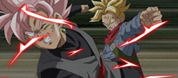 Black Gokú Rose vs Trunks del futuro