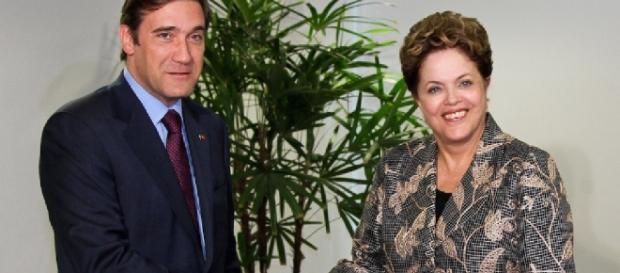 Dilma com premiê português - Imagem/Divulgação