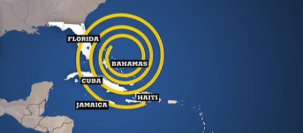 Le zone interessate dall'uragano Matthew