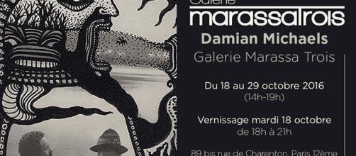 Après la Halle Saint-Pierre (2001), Damian Michaels retrouve Paris à la galerie Marassa Trois