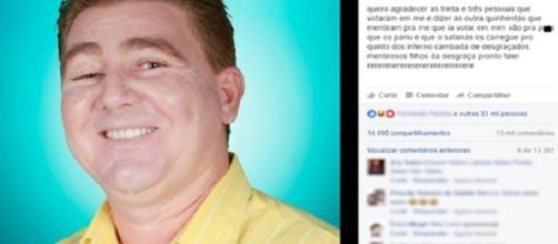 Candidato a vereador xinga eleitores que não votaram nele em Bela Vista de Goiás.