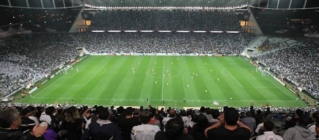 Arena Corinthians, conhecida como Itaquerão, foi palco da abertura da Copa no Brasil em 2014
