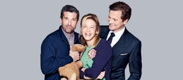 Dempsey, Zellweger e Firth in una foto promozionale per il film