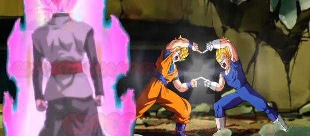 Goku y Vegeta a punto de fusionarme en el episodio 66