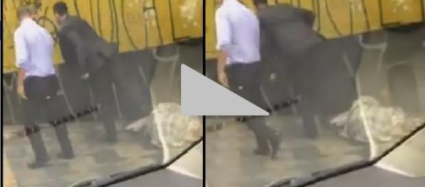 Homem chuta sofredor de rua em vídeo