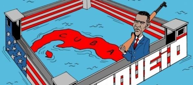 Críticos rechaçam Obama por não ter terminado o bloqueio a Cuba.