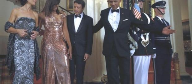 La cena Obama-Renzi con le rispettive first lady.
