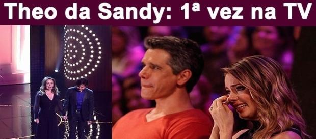 Theo e Sandy receberam uma homenagem da família no programa Tamanho Família