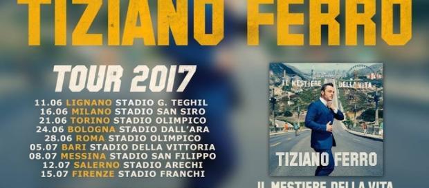 Tiziano Ferro, nel 2017 nuovo tour negli stadi: ecco le dateMusicVoice - musicvoice.it
