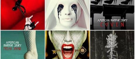 Les logos des six saisons d'American Horror Story
