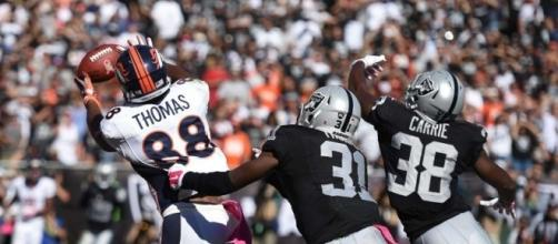 Broncos e Raiders duelam pela liderança da divisão oeste da AFC.