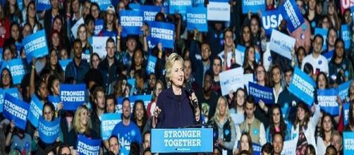 Hillary Clinton durante la campaña. Public Domain