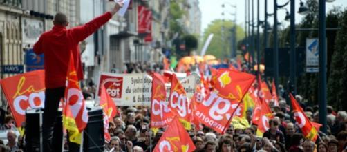 Manifestation de syndicats, en France
