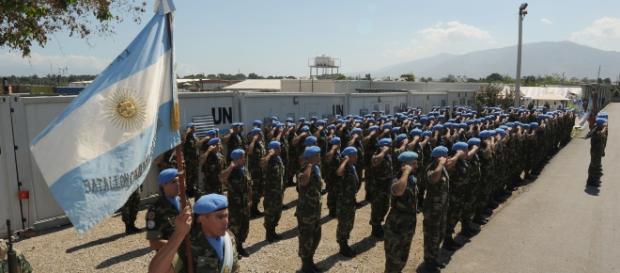 Cascos Azules argentinos (Foto: Ministerio de Defensa)