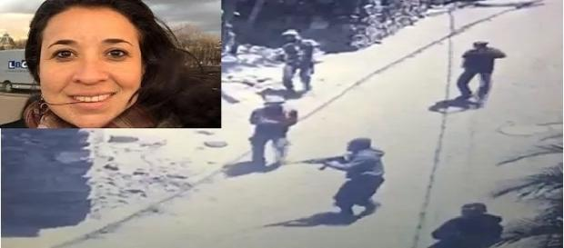 Mulher morta com tiro na cabeça, após invasão de bandidos, ao Morro do Banco, no Rio
