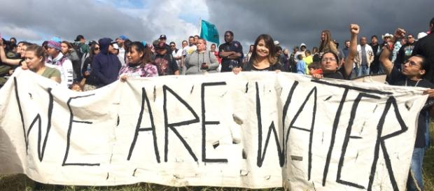Photo from yesmagazine.org - We are water at Standing Rock Sioux