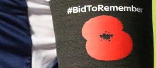 The poppy symbolises fallen British soldiers