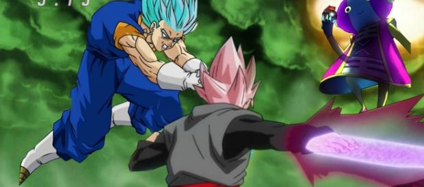 vegeto y black rose zeno sama dragon ball super