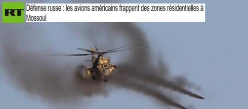Russia Today et Sputnik insistent sur les frappes de la coalition sur des habitations à Mossoul