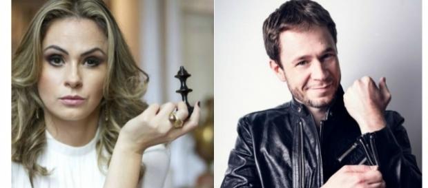 Ana Paula Renault e Tiago Leifert / Imagens: Reprodução