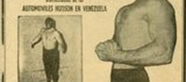 Cartel promocional de lucha libre allá en 1958.