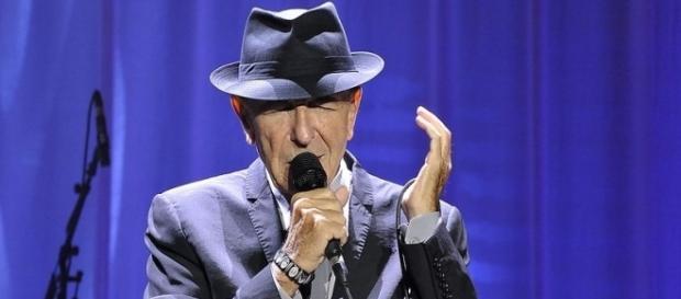 Leonard Cohen - King's Garden, Odense, Denmark, 17 August 2013/ Photo by Takahiro Kyono via Wikimedia