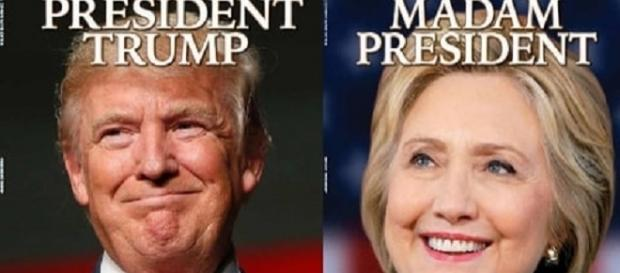 Newsweek avait prévu sa une pour une Clinton présidente qui a dû la modifier