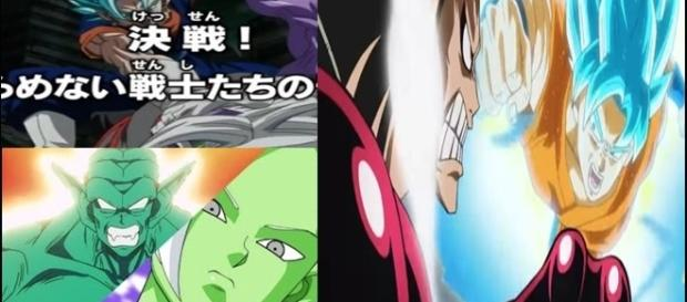 Vegetto derrota a Zamasu, Goku dios azul vs Luffy