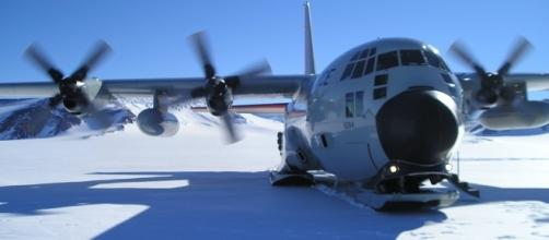 A plane touches down at McMurdo station in Antarctica. Photo - Pixabay.