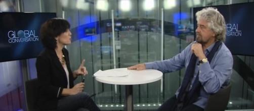 Beppe Grillo intervistato a Bruxelles | Tito di Persio