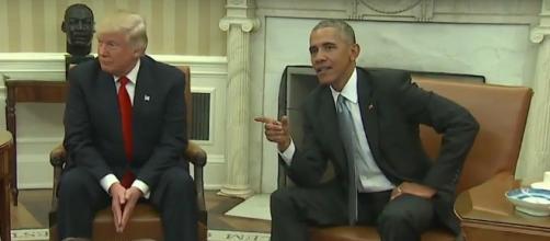 Donald Trump e Barack Obama, primo faccia a faccia