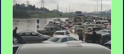 Floods in South Africa. Photo screencap via AJ+ Twitter video