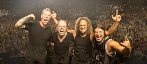 Metallica en uno de sus conciertos