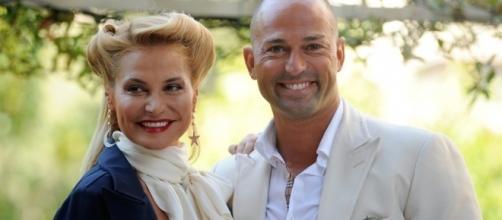 Stefano Bettarini con l'ex moglie Simona Ventura