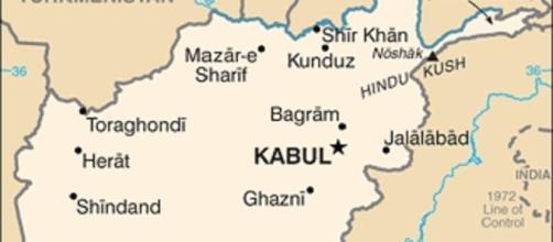 Cartina dell'Afghanistan per individuare le città interessate dagli ultimi attentati