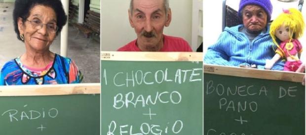 Emocionante: idosos pedem presentes de natal e internet se comove