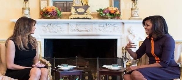 Melania Trump and Michelle Obama (Credit: public domain photo - wikimedia.org)