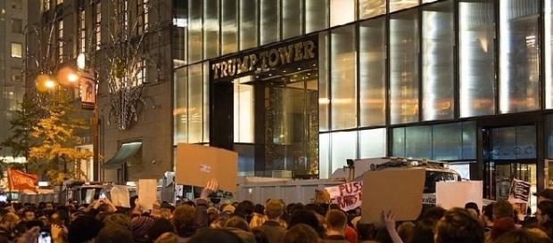 Protest at Trump Tower (Credit: Rhododendrites - wikimedia.org)