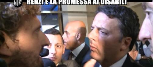 Il premier Matteo Renzi intervistato dalle Iene