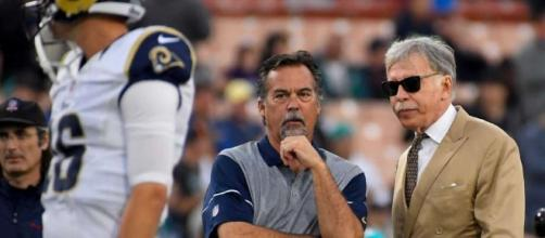 The Latest: Rain falling in Los Angeles for Goff's debut ... - myplainview.com