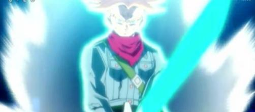 Trunks con su espada vuelta genkidama
